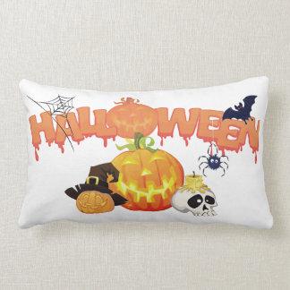 Cojín Lumbar Fantasmagórico del feliz Halloween adornado
