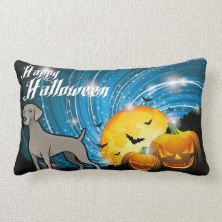 Cojín Lumbar Feliz Halloween Weimaraner