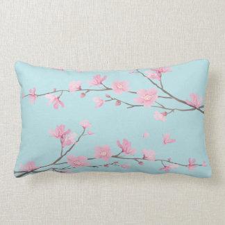 Cojín Lumbar Flor de cerezo - azul de cielo