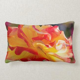 Cojín Lumbar Flor subió color del arco iris