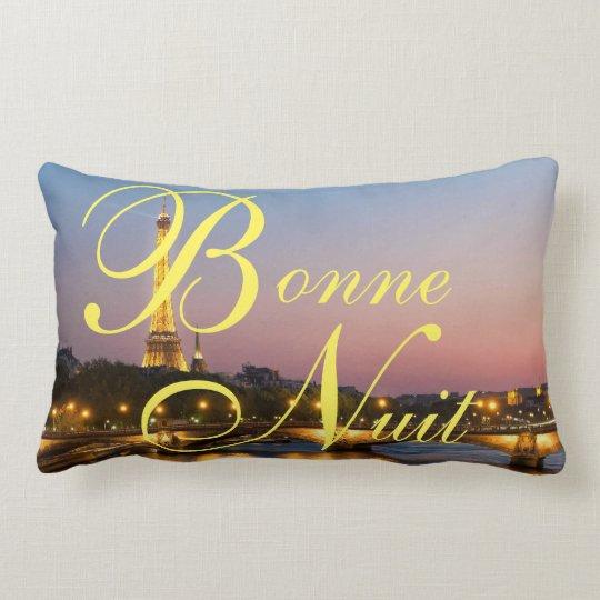 Cojín Lumbar Francés París De Las Buenas Noches De Bonne Nuit