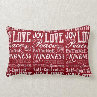 Cojín Lumbar Fruta de la alegría del amor del navidad de la