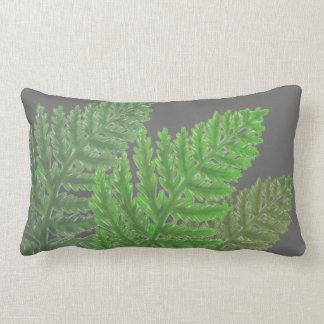 Cojín Lumbar Helechos - tonalidades verdes más oscuras