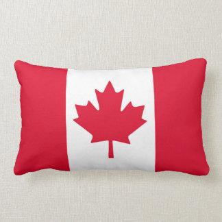 Cojín Lumbar Hoja de arce canadiense Canadá blanco rojo de la
