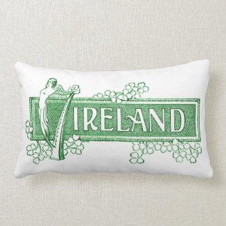 Cojín Lumbar Irlanda con la arpa irlandesa