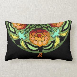Cojín Lumbar Jardín del artesano en los colores del otoño -