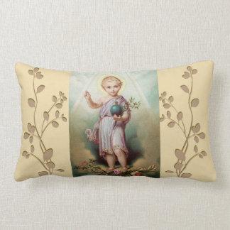 Cojín Lumbar Jesús infantil que sostiene el mundo
