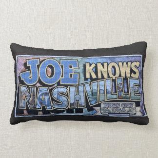 Cojín Lumbar Joe conoce mural de la pared de Nashville,
