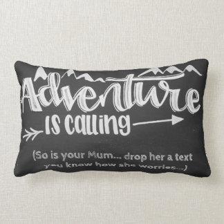 Cojín Lumbar La aventura está llamando el amortiguador