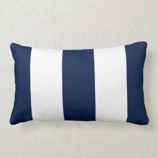 Cojín Lumbar La MOD intrépida azul náutica oscura elegante raya