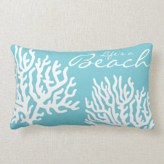 Cojín Lumbar La vida coralina costera del mar blanco es una