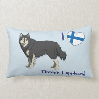 Cojín Lumbar Lapphund finlandesas pillow long (black white)