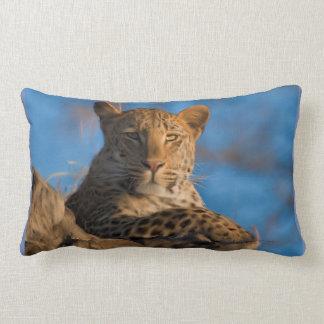 Cojín Lumbar Leopardo en roca
