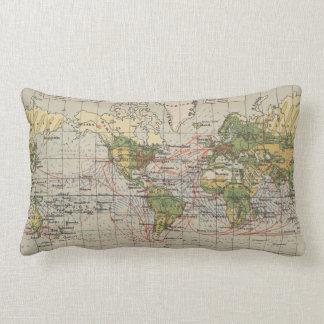 Cojín Lumbar Mapa de rutas de la navegación del mundo del