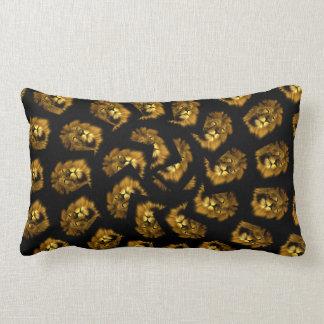 Cojín Lumbar Modelo de oro del extracto de la cabeza del león,