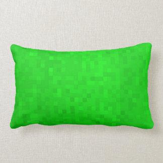 Cojín Lumbar Modelo verde caliente de las tejas de mosaico,