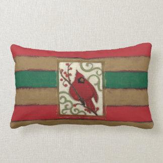 Cojín Lumbar Monograma del cardenal del navidad
