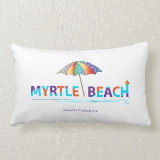 Cojín Lumbar Myrtle Beach, SC con el gráfico del paraguas