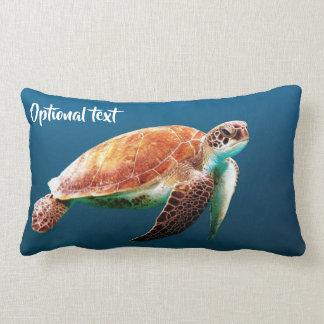 Cojín Lumbar Natación hermosa de la tortuga de mar