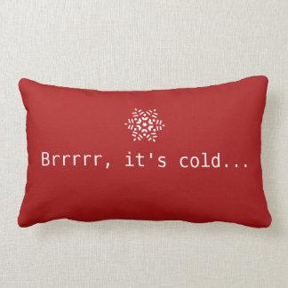 Cojín Lumbar Nieve Brrrrr es rojo acogedor del invierno frío y