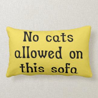 Cojín Lumbar Ningunos gatos permitidos en este sofá
