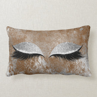 Cojín Lumbar Ojo de plata del maquillaje de los latigazos del