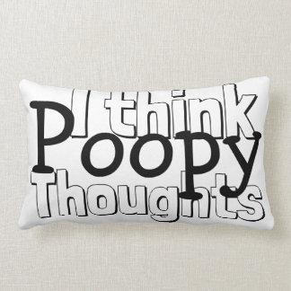 Cojín Lumbar Pensamientos de pensamiento de Poopy