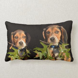 Cojín Lumbar Perritos juguetones de los hermanos del beagle