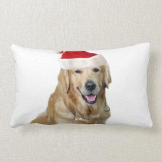 Cojín Lumbar Perro-mascota de Labrador navidad-santa Claus