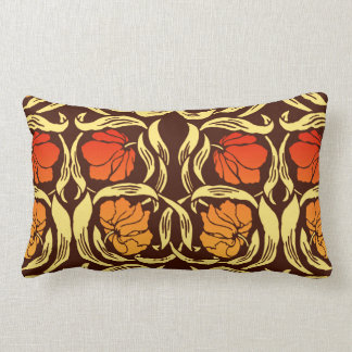 Cojín Lumbar Pimpernel de William Morris, naranja del moho y