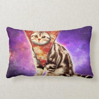 Cojín Lumbar Pizza del gato - espacio del gato - memes del gato