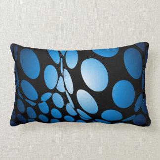Cojín Lumbar Puntos azules deformados en negro