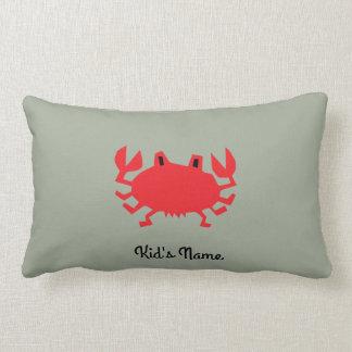 Cojín Lumbar Rojo del cangrejo del mar