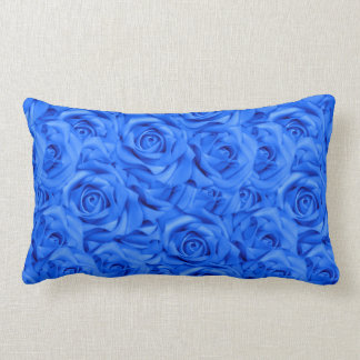 Cojín Lumbar Rosas tejados azules