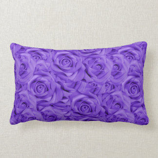 Cojín Lumbar Rosas tejados púrpuras