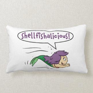 """Cojín Lumbar ¡""""Shellfishalicious! """"Almohada de tiro lumbar"""