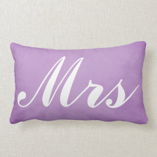 Cojín Lumbar Sr. y señora Purple Parchment del recuerdo del