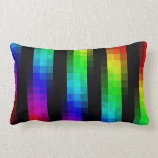 Cojín Lumbar Tejas de mosaico psicodélicas del arco iris,