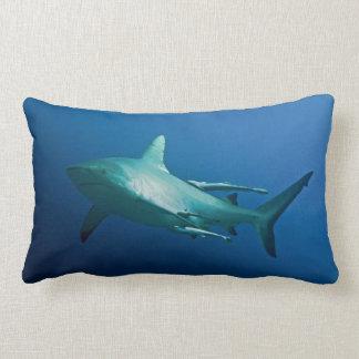 Cojín Lumbar Tiburón gris del filón en la gran barrera de coral