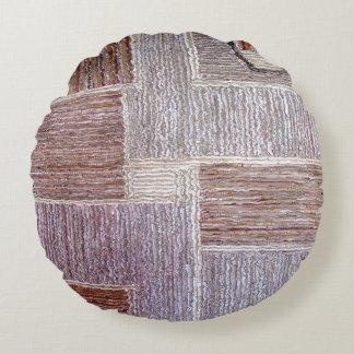 Cojín Redondo Arte de cuero original de la alfombra