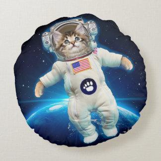 Cojín Redondo Astronauta del gato - gato del espacio - amante