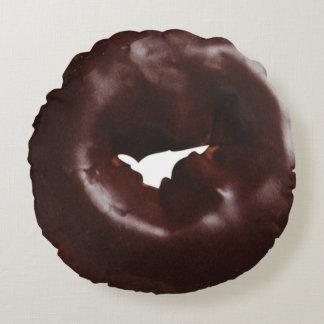 Cojín Redondo Buñuelo esmaltado chocolate moderno de la novedad