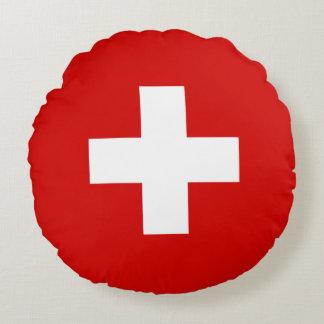 Cojín Redondo Calidad de la bandera de Suiza