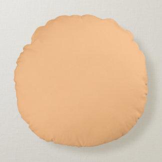 Cojín Redondo Color anaranjado del sorbete