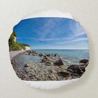Cojín Redondo Costa de mar Báltico en la isla Ruegen