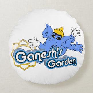 """Cojín Redondo del """"almohada redonda jardín de Ganesh"""" de los"""