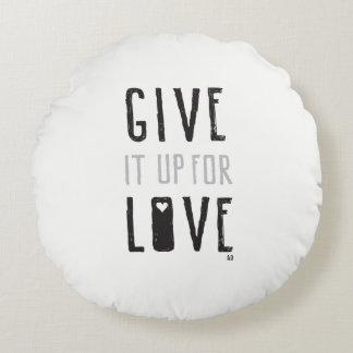 Cojín Redondo Délo para arriba para el amor (la almohada)