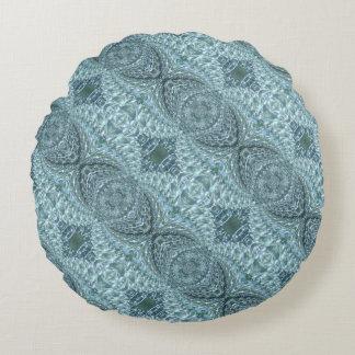 Cojín Redondo Diseño de cristal Crackled del remolino -