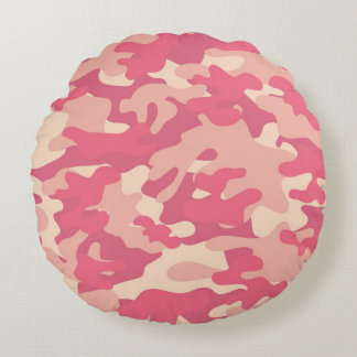 Cojín Redondo Diseño rosado de Camo