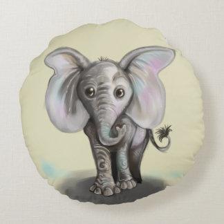Cojín Redondo Elefante del bebé